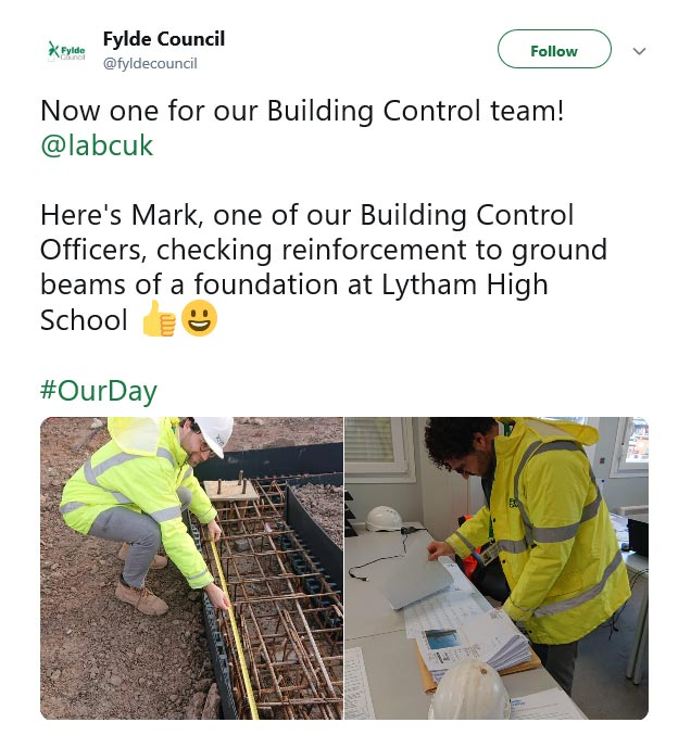 Fylde Council #OurDay Twitter campaign 2019