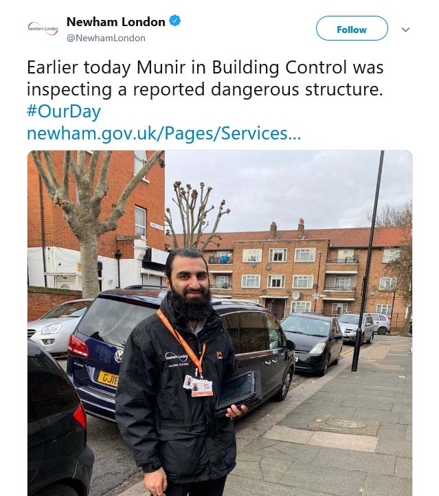 Newham Council #OurDay Twitter campaign 2019